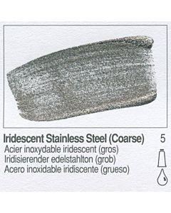 Golden Fluid Acrylic 4oz Bottle - Iridescent Stainless Steel (Coarse)