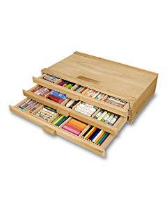 3 Drawer Wood Storage Box