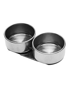 Tin Double Palette Cup (Paint, Water & Solvents - No Lid)