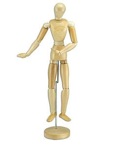Wood Figure Manikin Wax Finish - Female 8""