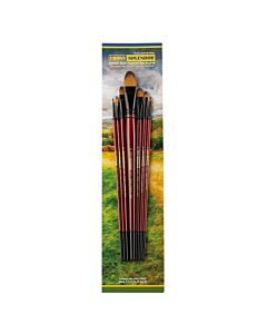 Ebony Splendor Brush Long Handle Filbert Set