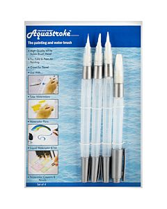Aquastroke Watercolor Brush Pen Set of 4 Assorted
