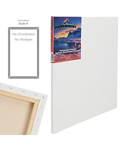 "Paramount Canvas 4X6"" 11/16"" Deep Cotton Stretched Canvas"