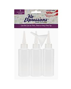 Creative Mark Flo Expressions Bottles - 3 Pack + Funnel 100ml