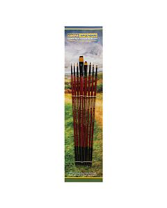 Creative Mark Ebony Splendor Long Handle Explorer Brush Set of 8
