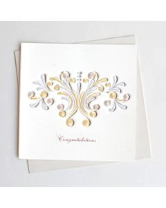 Quilling Card - Congrats White