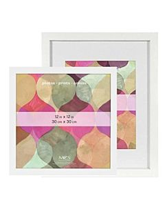 MCS Art Frames - White Wood - 12x12 Frame