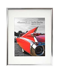 MCS Classic Aluminum Frame Silver - Frame Opening: 11x14 - Mat Opening: 8x10