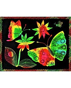 Scratch Art Paper Multicolor 12 Sheets