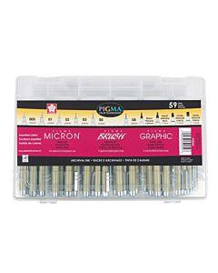 Micron Gift Box Set of 59 Pens