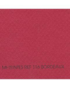 Canson Mi-Teintes Sheet 19x25 - Bordeaux #116