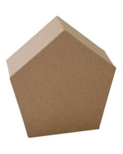 "Paper Mache Pentagon Blok 6"""