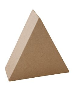 "Paper Mache Triangle Block 5"""