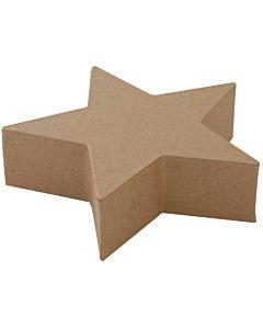 "Paper Mache Star Block 6"""