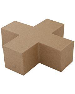"""Paper Mache Cross Blok 6"""""""
