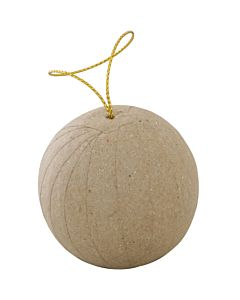 Paper Mache Ball with String 3.5""