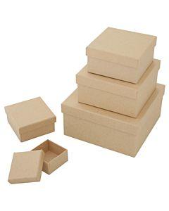 Paper Mache Square Box Se5 Med