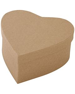 Paper Mache Heart Box xl 6""