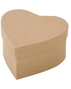 "Paper Mache HEART Box MED 4.3"""