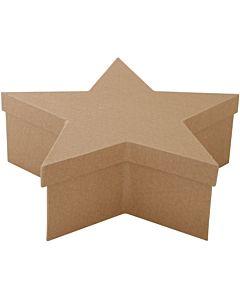 "Paper Mache Star Box xLarge 11.7"""