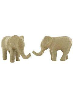 "Paper Mache Elephant #2 3.5"""