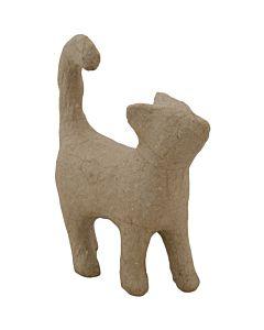 "Paper Mache Cat Walking 4.5x1.6"""