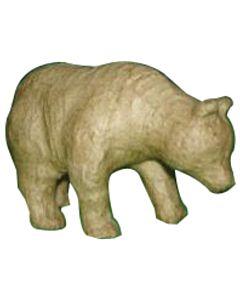 "Paper Mache Bear 4.5x3.75"""