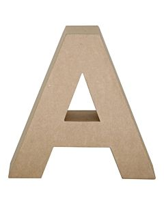 "Paper Mache Letter A 6.8"""