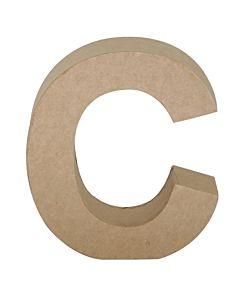 "Paper Mache Letter C 6.8"""