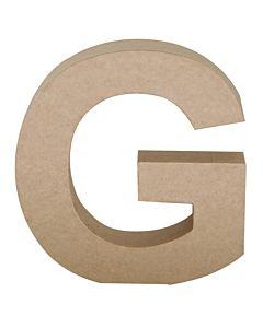 "Paper Mache Letter G 6.8"""