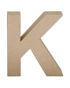 "Paper Mache Letter K 6.8"""