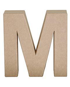 "Paper Mache Letter M 6.8"""