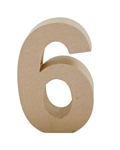 """Paper Mache Number 6 6.8"""""""