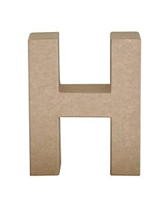 "Paper Mache Letter H 4"""