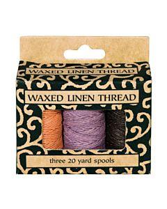 Waxed Linen Thread 3-Pack