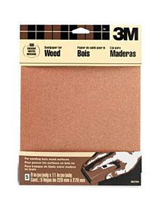 3M Sandpaper 9x11 5-Sheets Medium