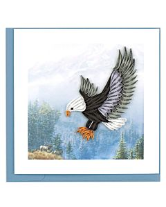 Quilling Card - Flying Eagle