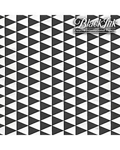 Black Ink Paper - Triangles Black and White