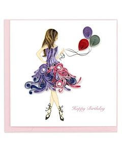Quilling Card - BD151 - Birthday Girl