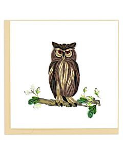 Quilling Card - Angels Great Horned Owl