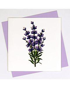 Quilling Card - Bl937 - Lavender