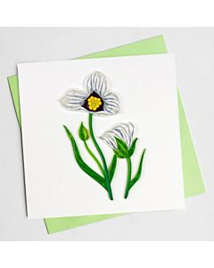 Quilling Card - Bl1005 - Sego Lily