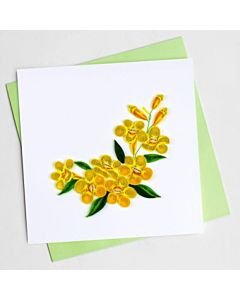 Quilling Card - BL1013 - Yellow Jessamine