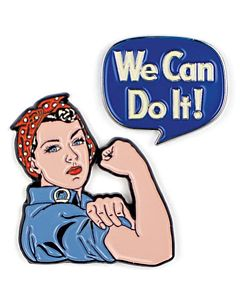 Rosie Riveter Lapel Pin