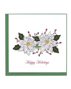 Quilling Card - Pointsetta