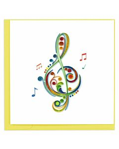 Quilling Card Treble Cleff