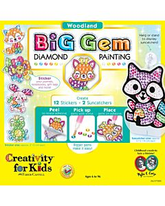 Creativity For Kids  - Big Gem Diamond Painting Woodland