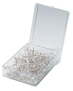 "Alvin Clear Push Pins 3/8"" Box of 100"