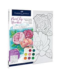 Faber-Castell Watercolor Paint By Number - Floral
