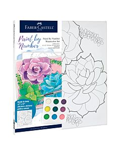 Faber-Castell Watercolor Paint By Number - Succulents